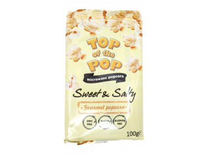 Top of the pop popcorn sladko slaný 100g BG