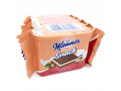 Manner oplatky mléčné s lískovými ořechy, balení po 5