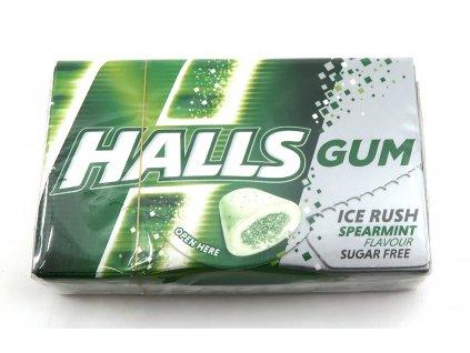 HALLS GUM - ice rush/spearmint - 18g
