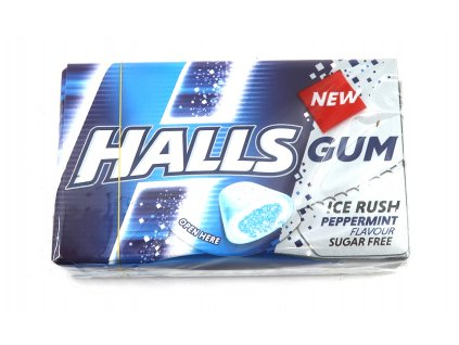 HALLS GUM - ice rush/peppermint - 18g