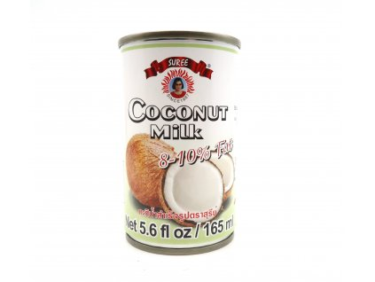 Suree Kokosové mléko na vaření 8-10% 165ml THA