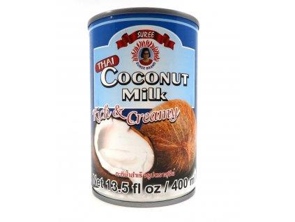 Suree Kokosové Krémové Mléko Na Vaření 17 - 19% 400ml THA