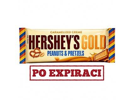 Po Expiraci Hershey's Gold Peanut and Pretzels 39g USA