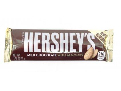 Hershey's mléčná čokoláda s kousky pražených mandlí 41g USA