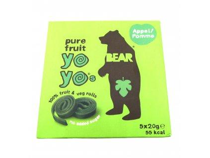 Yoyo Bear Ovocné Rolky Jablko Balení (5x20g) 100g UK