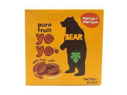 Yoyo Bear Ovocné Rolky Mango Balení (5x20g) 100g UK