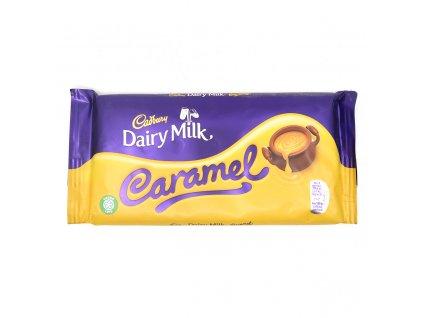 Cadbury Caramel Mléčná Čokoláda Plněná Karamelem 200g UK