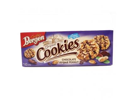 Bergen Cookies Chocolate Striped Peanut 150g PL