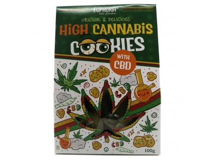 Euphoria High Cannabis Original Cookies With CBD 100g EU