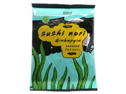 Sushi Nori Yakinori Mořská Řasa 10 plátků 23g KOR