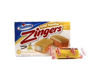 Hostess Zingers Iced Vanilla 1ks 36g USA