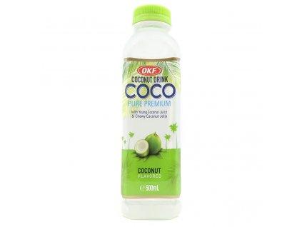 OKF Coconut Drink s Kousky Žele Kokosu 500ml KOR