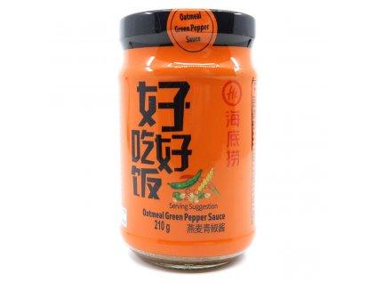 HAIDILAO Oatmeal Green Pepper Omáčka 210g CHN