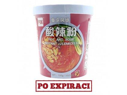 Po Expiraci Instantní Skleněné Nudle Hot And Sour Pálivé Kyselé 100g CHN