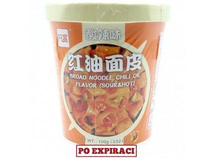 Instantní Široké Nudle Hot And Sour Pálivé Kyselé v Misce 100g CHN