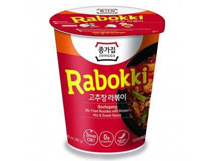 Po Expiraci Jongga Rabokki Gochujang Hot & Sweet v Kelímku 86g KOR