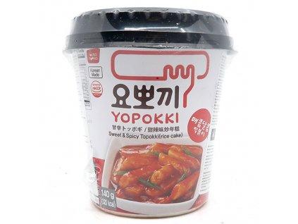 Yopokki Sweet & Spicy Tteokbokki Topokki v Kelímku 140g KOR