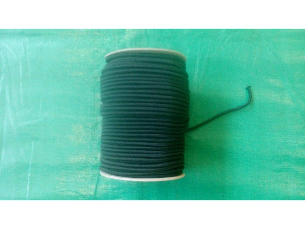pružné gumové lano s průměrem 6 mm