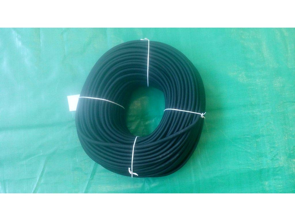 pružné gumové lano s průměrem 7 mm