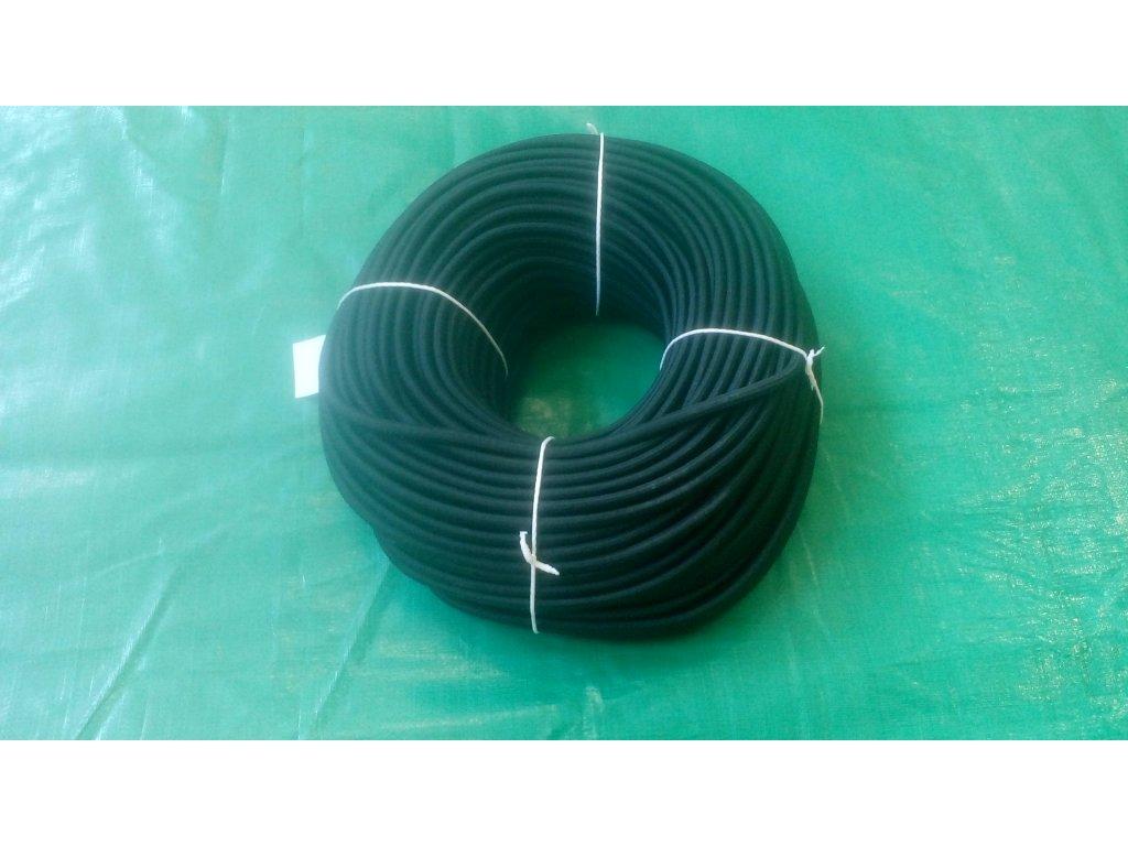 pružné gumové lano s průměrem 9 mm
