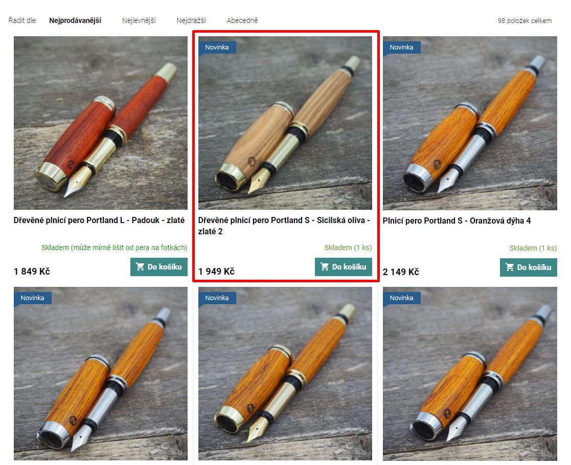 NÁVOD: Jak si na e-shopu vybrat styl gravírování na dřevěné pero