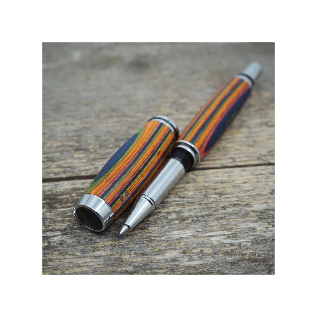 Dřevěné kuličkové pero Portland S - Barevná dýha 5