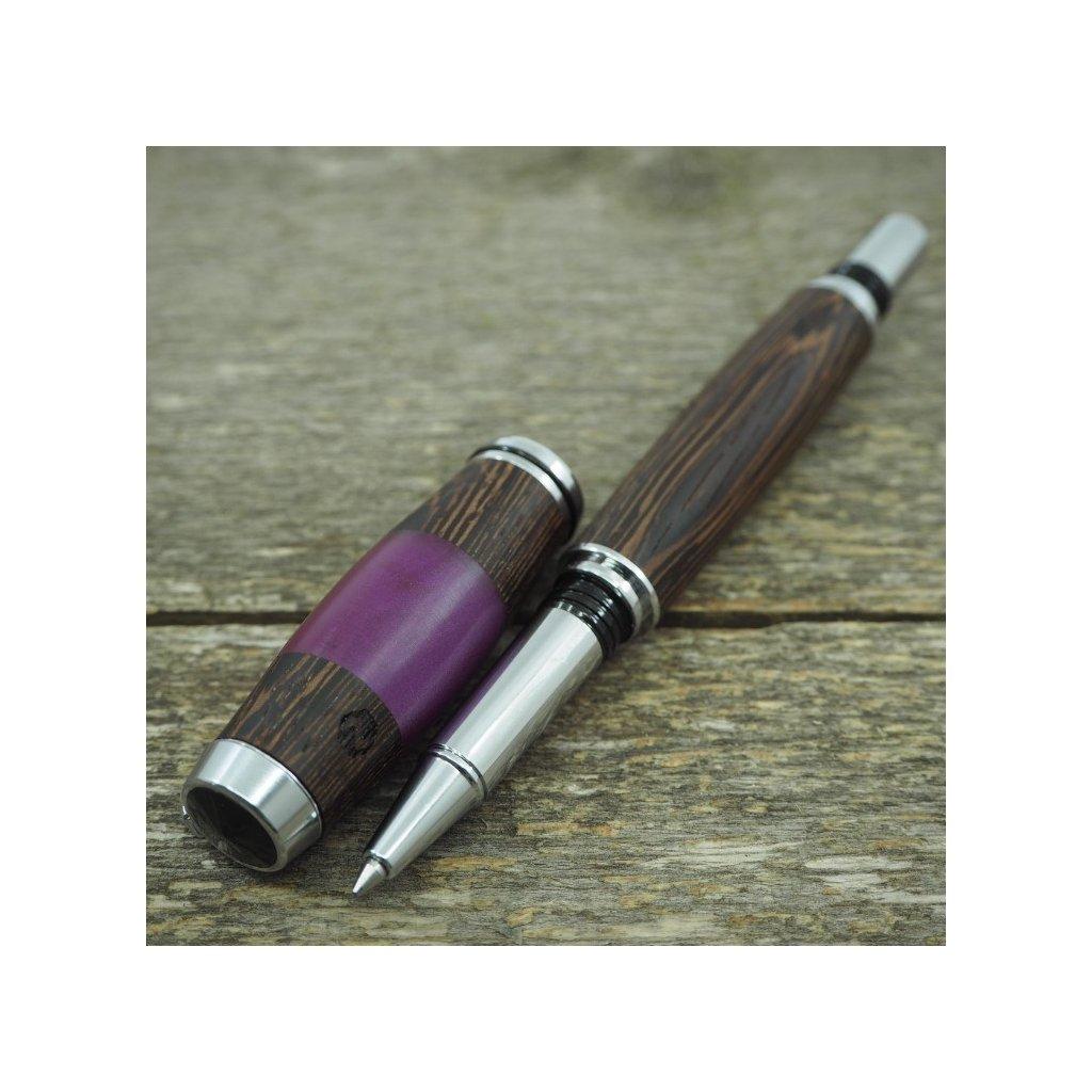 Kuličkové pero Portland S - Fialový akryl - Wenge 3