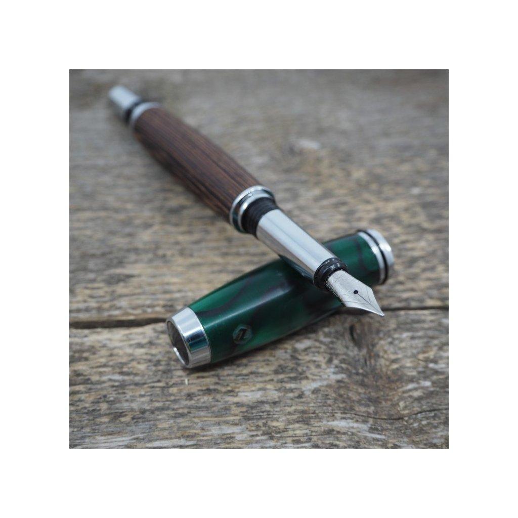 Plnicí pero Portland S - Zelené akrylové víčko 2
