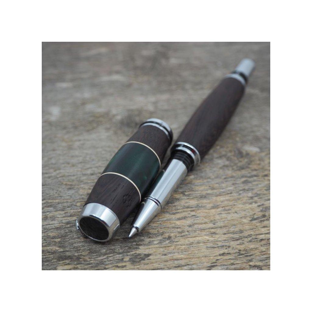 Kuličkové pero Portland S - Zelený akryl - Wenge 2