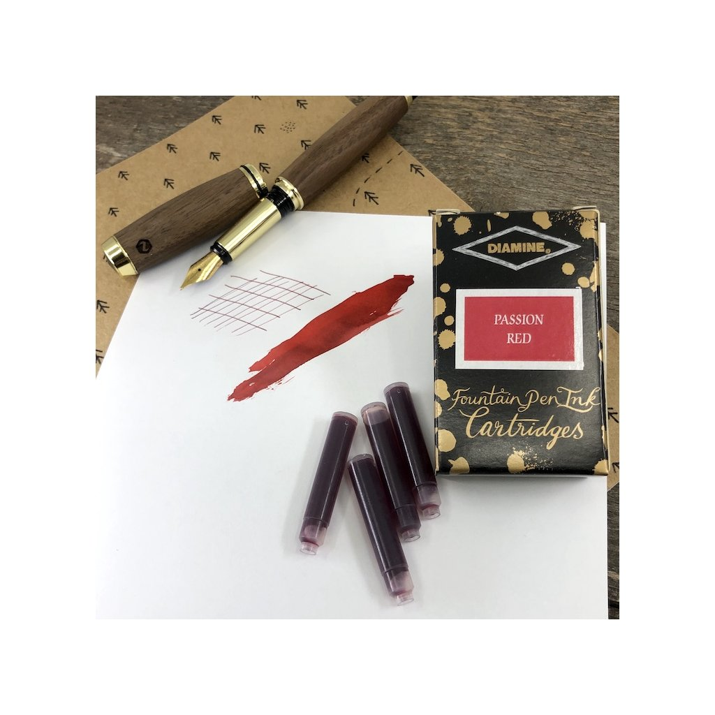 Bombicky diamine red passion 18ks