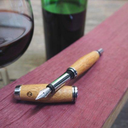 Dřevěné plnicí pero Portland S - sud od vína