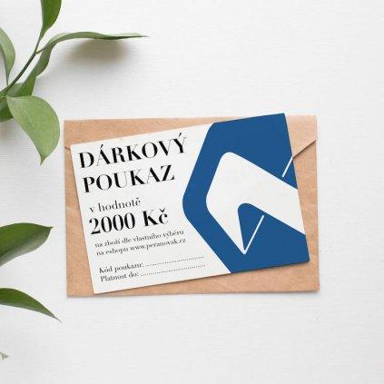 Darkovy poukaz 2000 mockup
