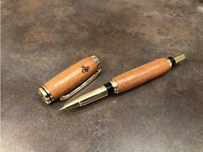 Dřevěné kuličkové pero Mukulungu - Majestic Gold