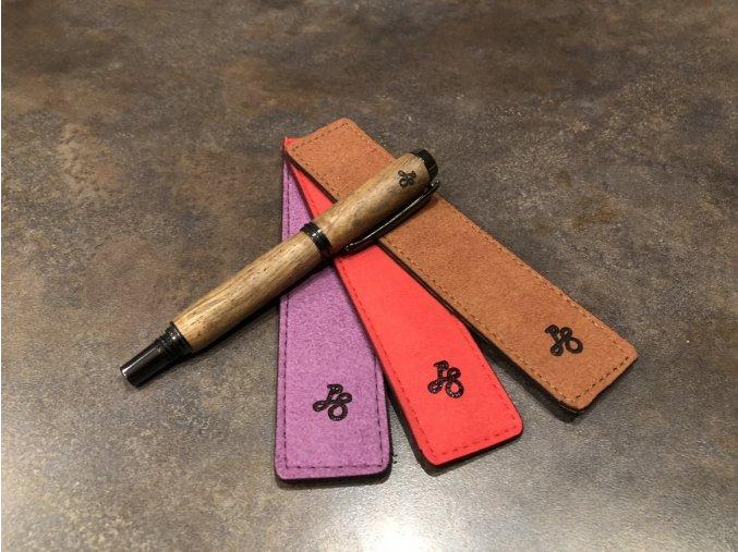 Kožené pouzdro pro pero (Barva pouzdra Hnědá)