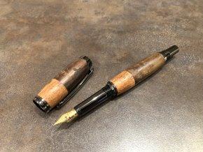 Dřevěné plnicí pero Leadwood / Mahagon - Majestic Black