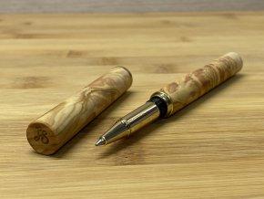 Dřevěné kuličkové pero z kořenice Olivovníku - Diplomat Gold