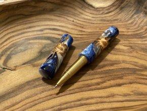 Kuličkové pero s šiškou zalitou v pryskyřici - Zero (prodáno)