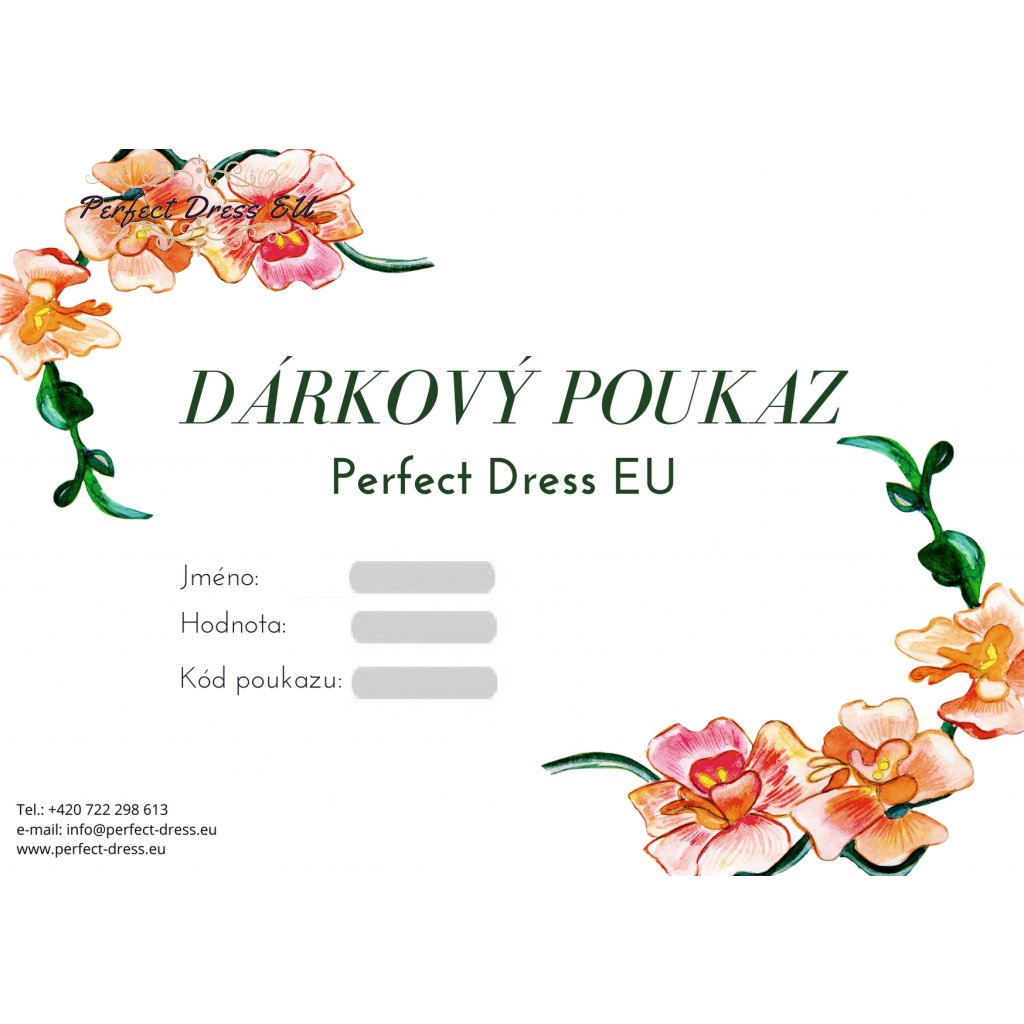 Darkovy poukaz perfect dress eu