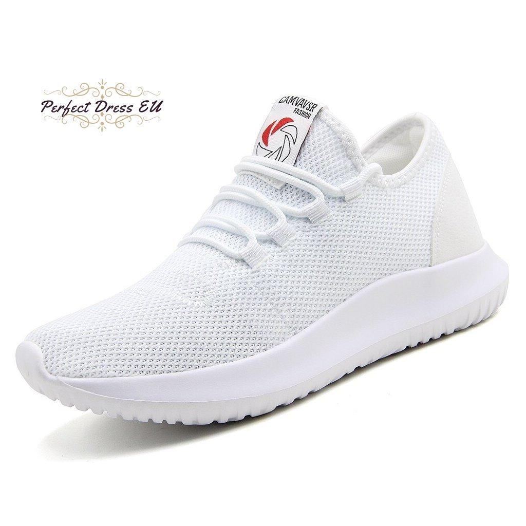 Bílé prodyšné tenisky s tkaničkami síťované pánské boty různé barvy