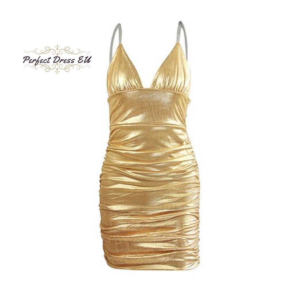 Mini šaty třpytivé FashionEU