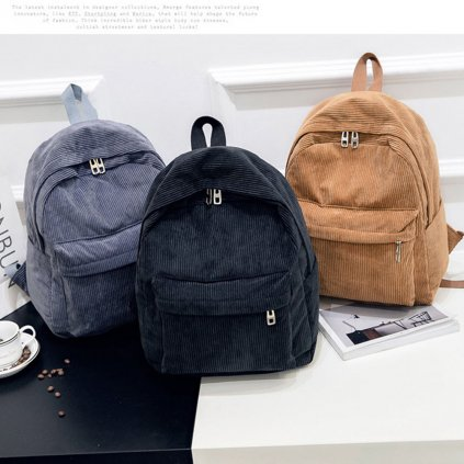 Stylový manšestrový batoh (1)