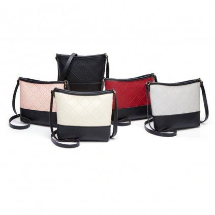 Formální černo bílá kabelka crossbody (1)