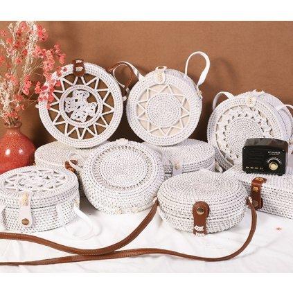 Bílá slamová letní kabelka (1)