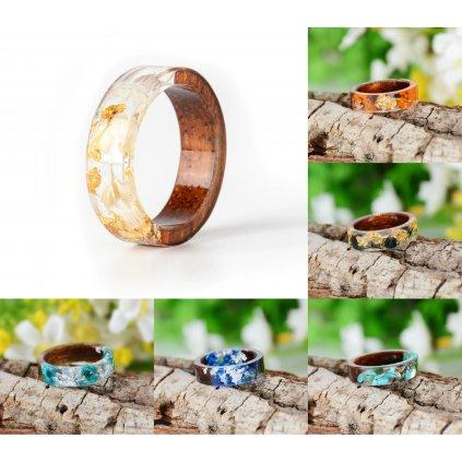 Nádherný průhledný prsten s květinami (28)