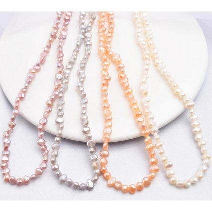 Dámský elegantní náhrdelník ze sladkovodních perel (4)