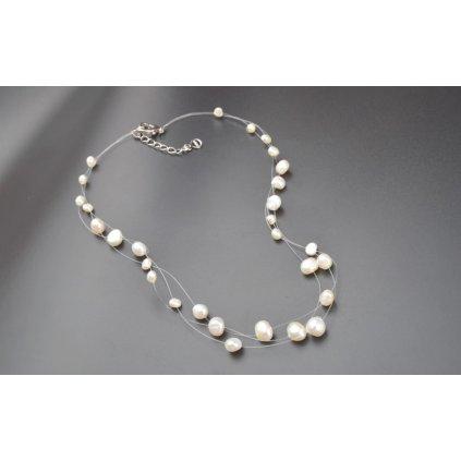Perličky na vlasce bílé barvy (1)