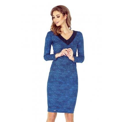 Elegantní džínové šaty pouzdrové s výstřihem do V VEL. S, L (1)