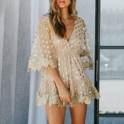 Nádherné společenské třpytivé šaty (1)