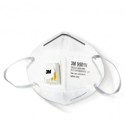 3M 9501V respirátor FFP2 / KN95 s výdechovým ventilem - SKLADEM