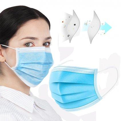 Ochranné roušky ffp3 ústní proti koronaviru 3 vrstvy (5)